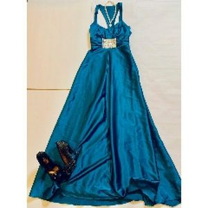 Jessica McClintock Prom/Formal Gown Teal Size 6